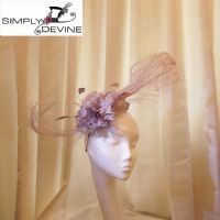 Lilac Paule Vasseur feather fascinator  by Nigel Rayment NR129